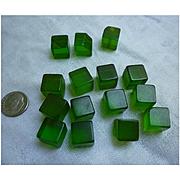 Prystal Green Bakelite Cubes Set