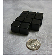 Shiny Black Bakelite Cubes Set