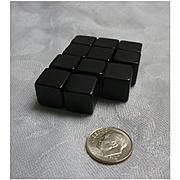 Shiny Black Bakelite Cubes Set
