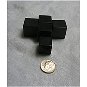 Large Black Bakelite Cubes Set