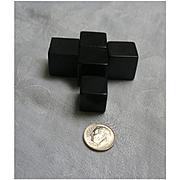 Large Black Bakelite Cubes Set