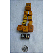Golf Game and Numbers Bakelite Dice Group of 12