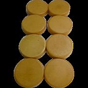 Rich Cream Corn Bakelite Backgammon Disks Set of 8