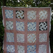 Prairie Queen Nine Patch Patchwork Quilt Top