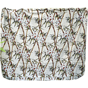 Bamboo and Orchids Barkcloth Futon Cover - Red Tag Sale Item