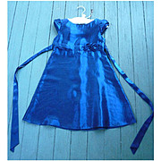 Iridescent Blue Satin Jessica McClintock Girl's Party Dress