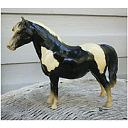 Glossy Black and White Shetland Pony Breyer Horse Mold #23