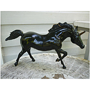 Running Stallion Black Unicorn Breyer Horse Mold # 210