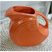New Fiesta Persimmon Large Disc Pitcher