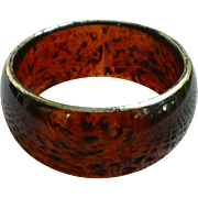 Rich Rootbeer Swirl Lucite Chunky Bangle Bracelet