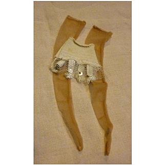 Fashion Doll Girdle Garter Belt and Nylon Stockings
