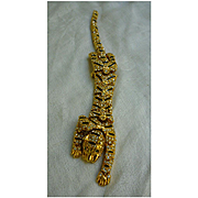 Glittering Rhinestones and Enamel Articulated Tiger Over The Shoulder Brooch