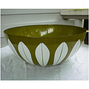 Avocado and White Lotus Cathrineholm Salad Serving Bowl