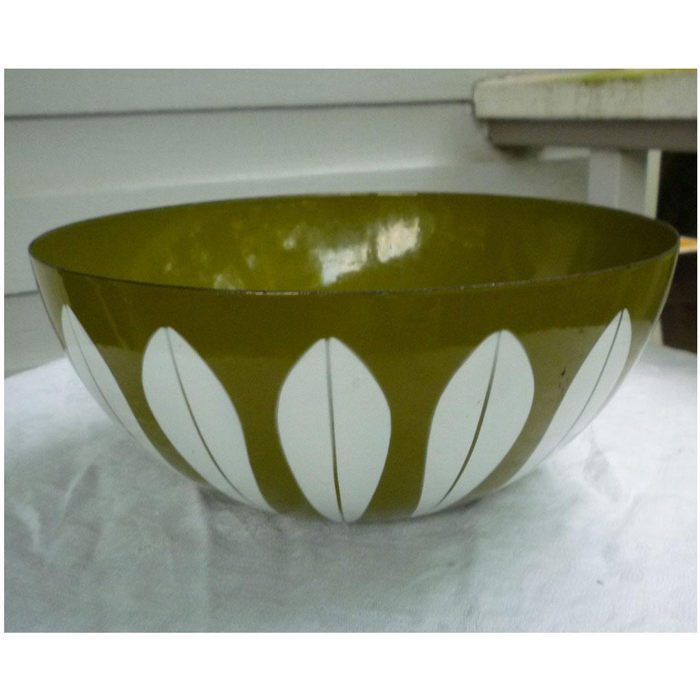 Avocado and White Lotus Cathrineholm Salad Serving Bowl