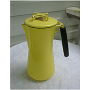 Yellow Lantoni Milanoware Coffee Pot Percolator