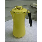 Yellow Lantoni Milanoware Coffee Pot Percolator