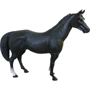 Blue Ribbon Ranch Black Plastic Model Horse