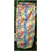 Colorful Large Flowers Barkcloth Slip Cover