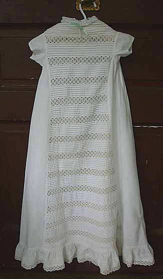 Victorian Lace and Tucks Christening Gown Baby Doll Dress
