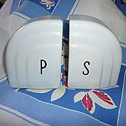 Art Deco Salt and Pepper Range Top Shakers for Vintage Stove