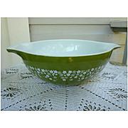 Pyrex Spring Blossom Green 4 Qt Cinderella Mixing Bowl #444