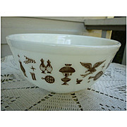 Pyrex Early American Beaded Edge Nested Mixing Bowl 403 2 ½ Qt