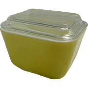 Pyrex Verde 501 Leftover Refrigerator Dish with Lid 1 ½ Cup