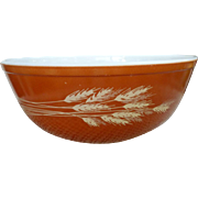 Pyrex Autumn Harvest Pattern Beaded Edge Mixing Bowl 404