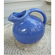 Mauve Ball Tilt Ice Lip Pottery Pitcher