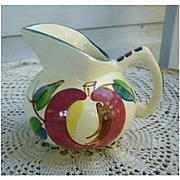Purinton Pottery Hand Painted Apple Pattern Jug Pitcher