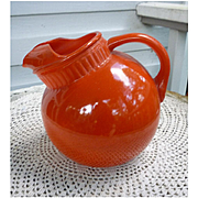 Orange Ball Tilt Ice Lip Glass Pitcher