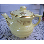 Vintage Enterprise Aluminum Drip-O-Lator Yellow and 22K Gold Floral Coffee Pot