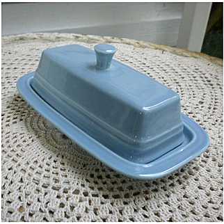 New Fiesta Periwinkle Blue Butter Dish With Lid