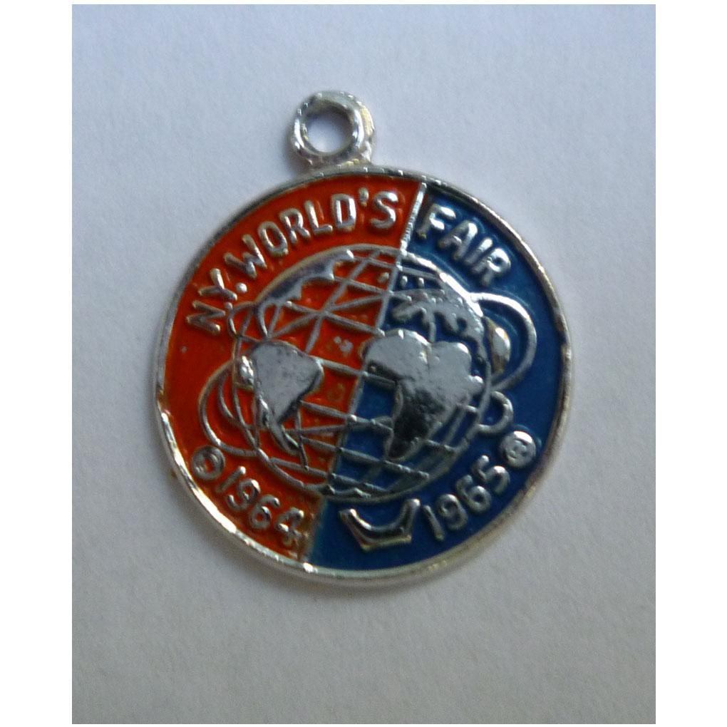 1964-1965 New York Worlds Fair Sterling Unisphere Bracelet Charm
