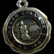 Vassar College Sterling Silver Bracelet Charm
