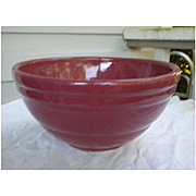 Vintage Pfaltzgraff York Ringware Mixing Bowl Maroon Burgundy