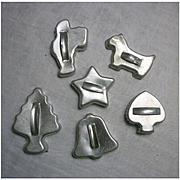 Vintage Metal Cookie Cutters Set of 6