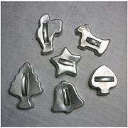Vintage Metal Cookie Cutters Set of 6