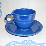 New Fiesta Sapphire Cup and Saucer Retired Color