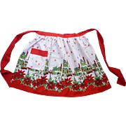 Snowy Old Fashioned Christmas Village Vintage Christmas Apron
