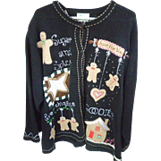 The Quacker Factory Vintage Women's Ugly Christmas Sweater Sugar and Spice 3X