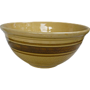 "Yelloware Brown Stripes 10"" Mixing Bowl"