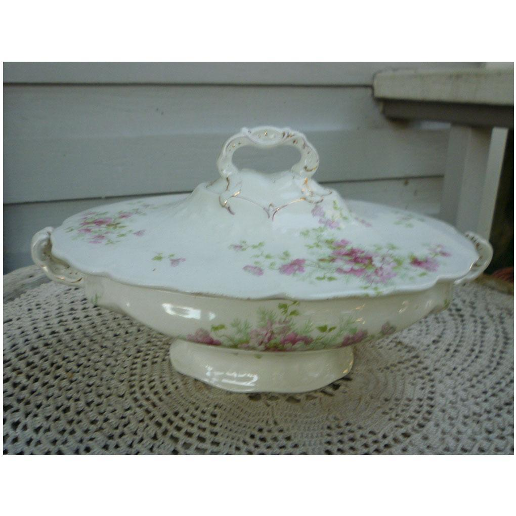 Maddock and Sons Tureen with Lid Pink Floral Decoration
