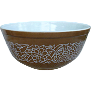 Pyrex Woodland Pattern 403 Beaded Edge Mixing Bowl