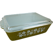 Pyrex Crazy Daisy Large Leftover Refrigerator Dish With Lid 0503
