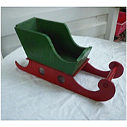 Little Wooden Folk Art Christmas Open Sleigh