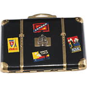 1940s Suitcase Travel Themed Sweetheart Compact