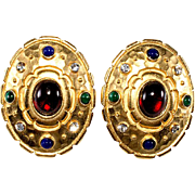 Edgar Berebi Jewel Tone Pierced Earrings