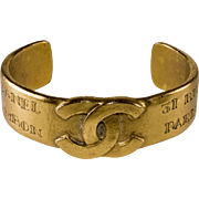 CHANEL Cuff Bracelet CC Logo Rue Cambon Paris