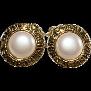 CHANEL Faux-Pearl 1980s Earrings Vintage